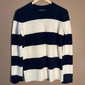 Banana Republic striped wool mohair blend sweater